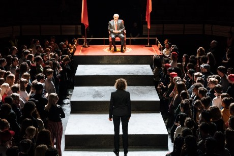 David Calder Caesar Julius Caesar at the Bridge Theatre  Photographer credit Manuel Harlan