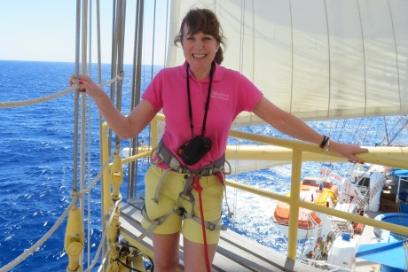 Jeannine on a transatlantic adventure