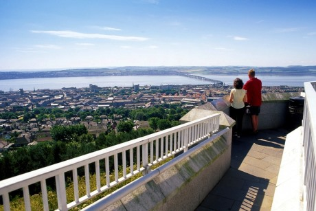 /Views from Dundee Law to the Firth of Tay with the Kingdom of Fife beyond