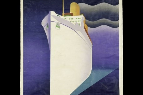 Empress of Britain colour lithograph poster