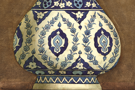 Islamic Vase on display at the Coalbrookdale School of Art exhibition