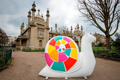 One of the sculptures outside the Royal Pavilion%2C credit%3A Vervate Photography