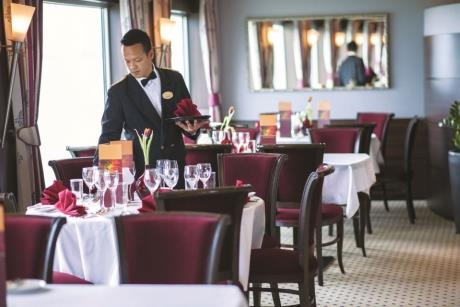 Dining on board Fred. Olsen Cruise Line's Brabant ship