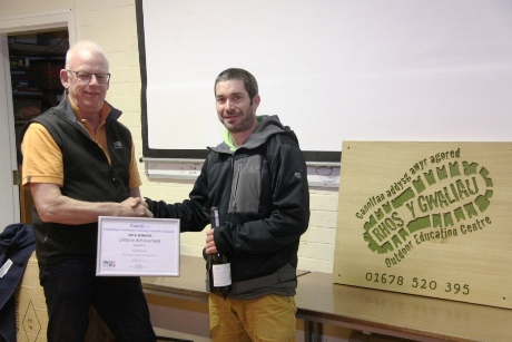 Ed Jones receives his award from CLOtC trustee Paul Airey
