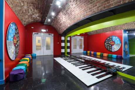 A giant interactive floor piano on offer at The Beatles Story in Liverpool