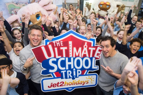 Mount Florda Primary School with Dick and Dom