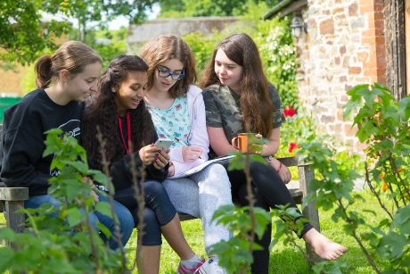 Young writers at Totleigh Barton, Devon