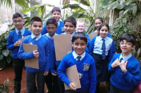 Pupils at Birmingham Botanical Gardens