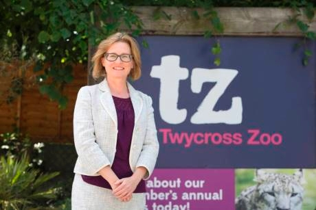 Dr Sharon Redrobe%2C the chief executive at Twycross Zoo