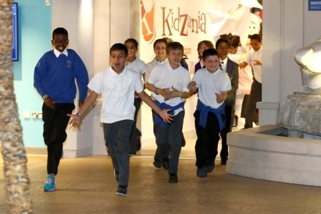 School pupils at Kidzania