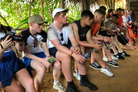 Vandyke Upper School students on a school trip to Sri Lanka