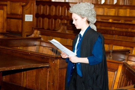 Students get to dress up to re-enact the trial