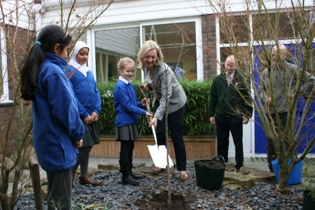 The Environment Secretary Planted A Cherry Tree To Mark The Launch Of The School Tree Planting Project
